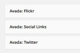 Avada Widgets